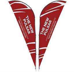 Legend 2m Sharkfin DoubleSided Flying Banner