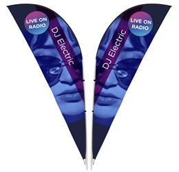Legend 3m Sharkfin DoubleSided Flying Banner