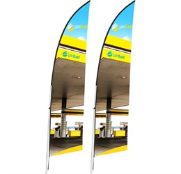 Legend 2m Arcfin SingleSided Flying Banner (Set of 2)