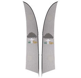 Legend 3m Arcfin DoubleSided Flying Banner
