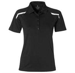 Golfers - Ladies Nyos Golf Shirt  Black Only