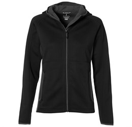 Ladies Ferno Bonded Knit Jacket  Black Only