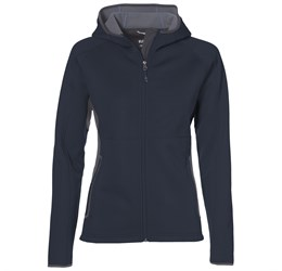 Ladies Ferno Bonded Knit Jacket  Navy Only