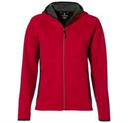 Ladies Ferno Bonded Knit Jacket  Red Only