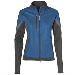 Ladies Jozani Hybrid Softshell Jacket  Blue Only