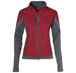 Ladies Jozani Hybrid Softshell Jacket  Red Only