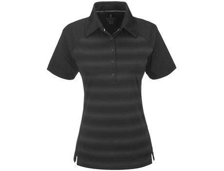 Elevate Ladies Shimmer Golf Shirt in Black Code ELE-5613