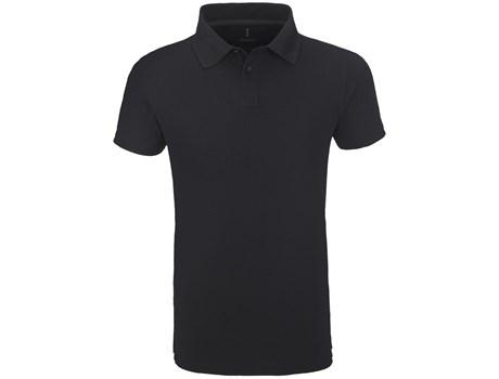 Elevate Mens Calgary Golf Shirt in Black Code ELE-5616
