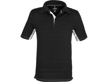 Elevate Mens Prescott Golf Shirt in black Code ELE-6012
