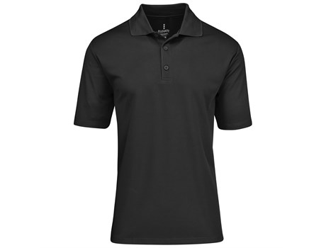 Elevate Mens Edge Golf Shirt in black Code ELE-7302