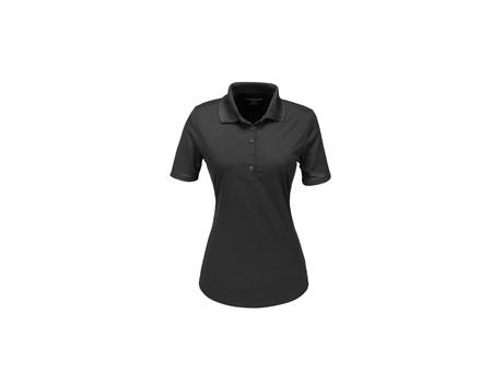Elevate Ladies Edge Golf Shirt in Black Code ELE-7303