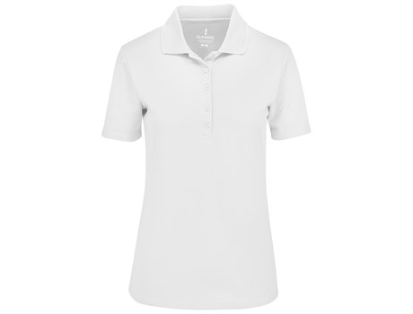 Elevate Ladies Edge Golf Shirt in White Code ELE-7303