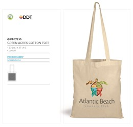 Green Acres Cotton Tote