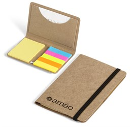 Caption Business Card Holder and Sticky Flags