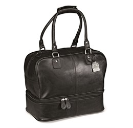 Gary Player Leather Double Decker Bag  Black Only