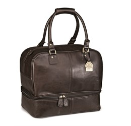 Gary Player Leather Double Decker Bag  Brown Only