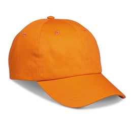 Accelerate 6 Panel Cap  Orange Only