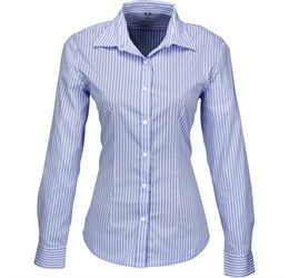 Ladies Long Sleeve Glenarbor Shirt  Blue Only