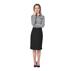 Ladies Long Sleeve Glenarbor Shirt  Grey Only