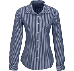 Ladies Long Sleeve Glenarbor Shirt  Navy Only