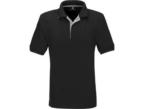 Gary Player Mens Wentworth Golf Shirt in Black Code GP-7458