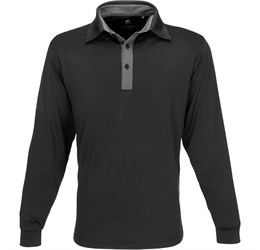 Golfers - Mens Long Sleeve Pensacola Golf Shirt  Black Only