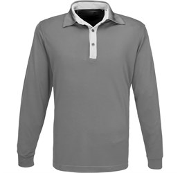 Golfers - Mens Long Sleeve Pensacola Golf Shirt  Grey Only
