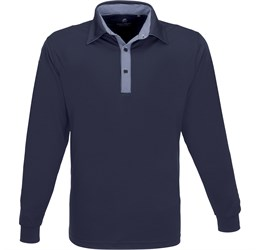 Golfers - Mens Long Sleeve Pensacola Golf Shirt  Navy Only