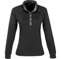 Ladies Long Sleeve Pensacola Golf Shirt  Black Only