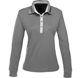 Ladies Long Sleeve Pensacola Golf Shirt  Grey Only