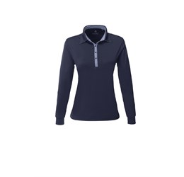 Ladies Long Sleeve Pensacola Golf Shirt  Navy Only