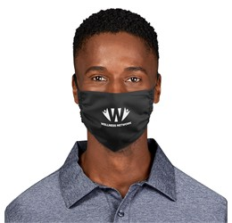 Eva and Elm Adults Polycotton Face Mask  Single  Black Only