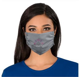 Eva and Elm Adults Polycotton Face Mask  Single  Grey Only