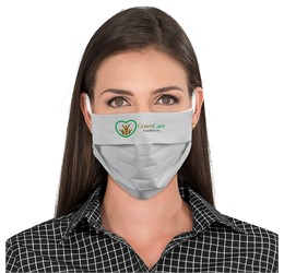 Eva and Elm Adults Cotton Face Mask  Single  Grey Only