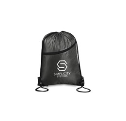 Doubleup Drawstring Bag  Black Only