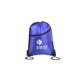 Doubleup Drawstring Bag  Blue Only