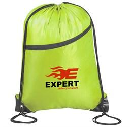 Doubleup Drawstring Bag  Lime Only
