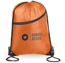 Doubleup Drawstring Bag  Orange Only