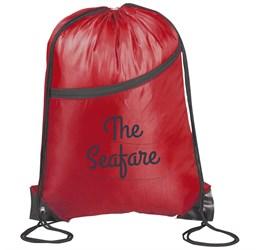 Doubleup Drawstring Bag  Red Only