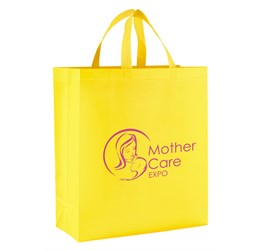 Pacific Laminated NonWoven Shopper  Yellow Only