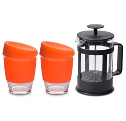 Kooshty Double Koffee Set With Black Plunger