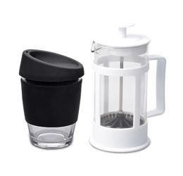 Kooshty Single Koffee Set With White Plunger