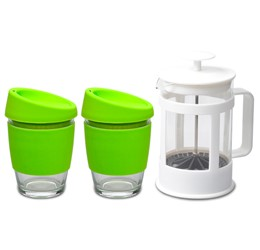 Kooshty Double Koffee Set With White Plunger