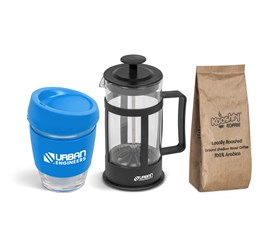 Kooshty Brew Koffee Set With Black Plunger  Cyan Only