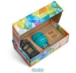 Kooshty Brew Koffee Set With Black Plunger  Turquoise Only