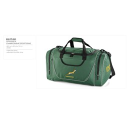 Springbok Championship Sports Bag  Sample