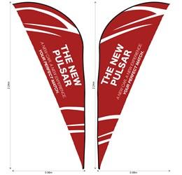 Legend 2m Sharkfin DoubleSided Flying Banner Skin
