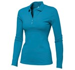 Ladies Long Sleeve Zenith Golf Shirt Aqua