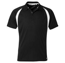 Golfers - Mens Apex Golf Shirt  Black Only