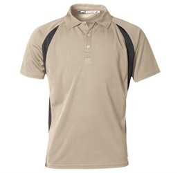 Golfers - Mens Apex Golf Shirt  Khaki Only